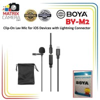 BOYA BY-M2 Clip On Mic Microphone for iPhone iOS Devices