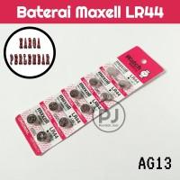 Baterai Maxell LR44 1 Strip Isi 10
