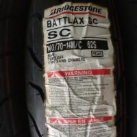 BRIDGESTONE BATTLAX 140/70-14 SC BAN BELAKANG MOTOR AEROX XMAX TUBELES