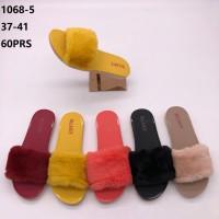 Sandal Selop Bulu Balance 1068-5 wanita