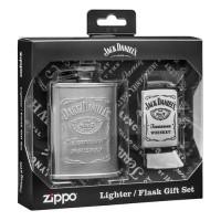 Zippo 49080 Jack Daniels Flask And Lighter Gift Set