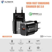 PROMO Ultimate Power Charger TC01Q-M 1USB Fast Charging QC 3.0
