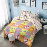 Bed Cover Queen Kintakun Dluxe Spongebob Sprei 160×200 No.2