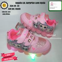 Sepatu Anak Nyala LED LoL Suprise Kado Sneakers Hadiah Kets