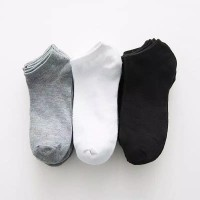 Kaos kaki pendek tebal bergaris kaoskaki olahraga casual kaus kaki