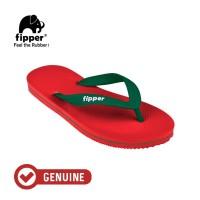 Fipper Slick / Sandal Jepit Unisex / Red - Green Emerald