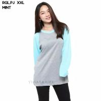 RGL.PJ Baju Kaos T-Shirt Raglan Jumbo Lengan Panjang Murah Wanita p