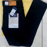 celana soft jeans hitam - Hitam, 34