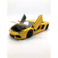 Welly Diecast - Lamborghini Aventador Skala 1:24 (Kuning)