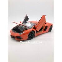 Welly Diecast - Lamborghini Aventador Skala 1:24 (Oranye)