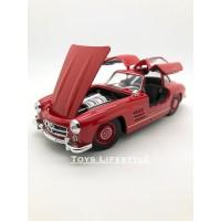 Welly Diecast - Mercedes Benz 300 SL Skala 1:24 (Merah)