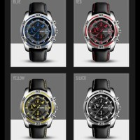 Jam Tangan Pria Original Skmei 9156 Chronograph Anti Air 30M - Hitam