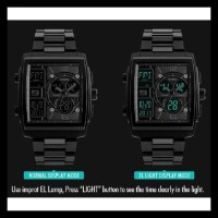 Jam Tangan Pria Digital Analog Skmei 1274 Black Water Resistant 50M
