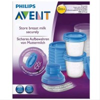 NEW AVENT Storage Breastmilk Cups 180ml