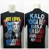 Kaos tshirt baju distro beat we love hitam bendera/motor beat thailook