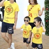 Baju Imlek Tahun Tikus - Kaos Imlek Couple Imlek Anak Ayah