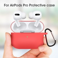 Silicone Softcase for AIRPODS PRO Casing Soft Cover Case with Hook