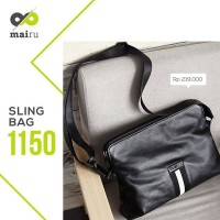 Mairu Tas Selempang Pria Kulit Hand Bag Import Polos Messenger Leather