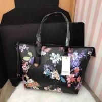 Original Stradivarius Tote Bag Tas Wanita Branded - Color Full Flower