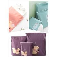 3 in1 set storage laundry pouch tas koper travel waterproof Lucu J39