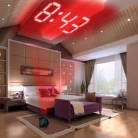 Jam Meja Pintar / Jam Weker Digital Desktop Smart Clock Proyektor