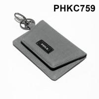 dompet stnk mobil motor gantungan kunci kain warna abu - PHKC759