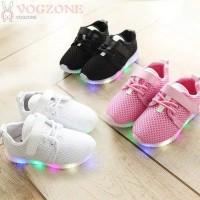ORI IMPORT PREMIUM QUALITY LED SHOES KIDS BABY Sepatu Nyala Boy Girl