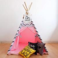 Teepee tent (tenda anak) - Chevron Pink