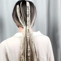 rantai pearl rambut wedding accesories mutiara pesta headpiece
