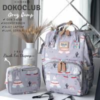 Tas Diaper Bag Dokoclub / Anello LUXE Motif GEN 3 (PLUS SLOT IPAD)