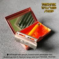 Paket alat cukur kumis jenggot silet box & cermin classic Q2