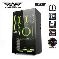 Armaggeddon Ultro 3 Spyder Gaming PC Case (M-ATX) Garansi Resmi 1Tahun