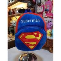 tas ransel karakter anak DC superman, batman p22cm t25cm - SUPERMAN BIRU