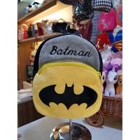 tas ransel karakter anak DC batman hitam p22cm t25cm