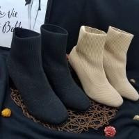 ankle Boots Musim Dingin Import sepatu Hak tahu wanita