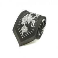 Houseofcuff Dasi Neck Tie Black Silver Batik Center Neck Tie