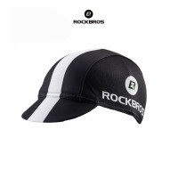 ROCKBROS MZ100 Bicycle Cap Hat - Topi Sepeda - BLACK WHITE LINE