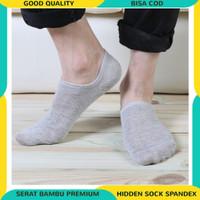 Hidden Sock Kaos Kaki Di Bawah Mata Kaki Spandex Serat Bambu Premium