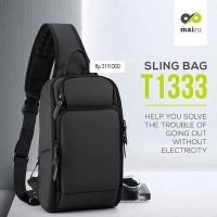 Mairu 1333 Tas Selempang Anti Maling Pria Travel Sling Bag Cross Body