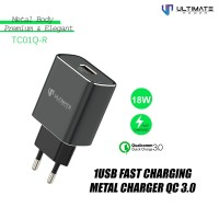 Ultimate Power Charger TC01Q-R 1USB Fast Charging Metal Charge QC 3.0