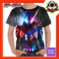 Kaos Kamen Rider Build Superhero Tokusatsu Jepang Baju Anak Cowok