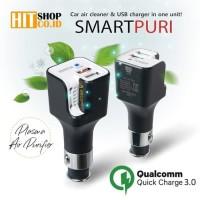 SMARTPURI Plasma Air Purifier & USB Charge - Pembersih Udara Mobil