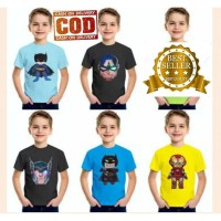 Kaos anak laki laki superhero LED - baju nyala anak cowok