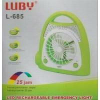 LUBY MINI FAN WITH EMERGENCY LAMP - L-685