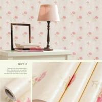 Wallpaper Dinding - Wallpaper Sticker 6021-2 : 10m x 45cm