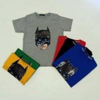 Pakaian Baju Atasan Kaos Batman LED Anak Laki / Cowok Lampu 2 LED