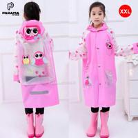 Jas Hujan Anak Perempuan Pink Funny Owl