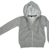 New Sale Promo Jaket Anak Hoodie Zipper Abu Misty Polos Simple