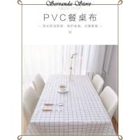 180x137 TAPLAK MEJA PVC PLASTIK MOTIF KOTAK KOTAK ANTI AIR WATERPROOF