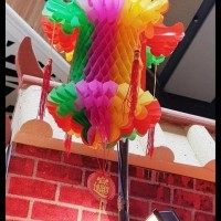 HOT SALE Lampion Lipat 3D Dekorasi Imlek Tenlung Imlek Naga Kecil